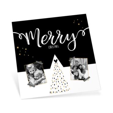 Kerstkaart met eigen foto - enkele kaart
