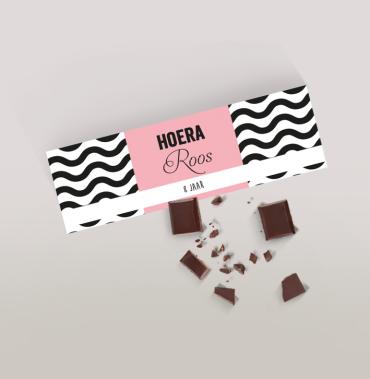 Chocoladereep met golven